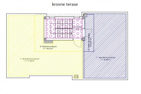 Zadar, Borik - trosoban stan s krovnom terasom, 118 m2, novogradnja