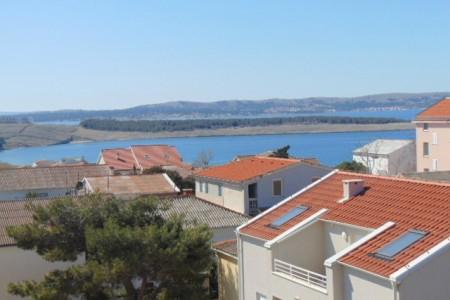 Pag, Povljana -dvosoban apartman s pogledom na more, 80 m2