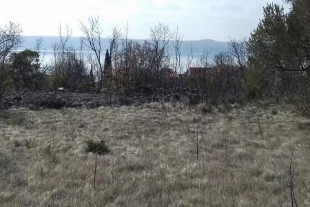 Maslenica - građevinsko zemljište s pogledom na more, 609m2