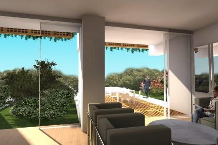 Brodarica - dvosoban apartman s vrtom drugi red do mora, 81 m2