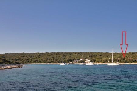 Silba, uvala Paprenica -  građevinsko zemljište s pogledom na more, 613 m2