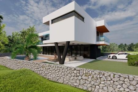 Novigrad - zemljište drugi red do mora s građevinskom dozvolom, 530 m2