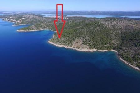 Murter, Čigrađa - zemljište drugi red do mora, 1252 m2
