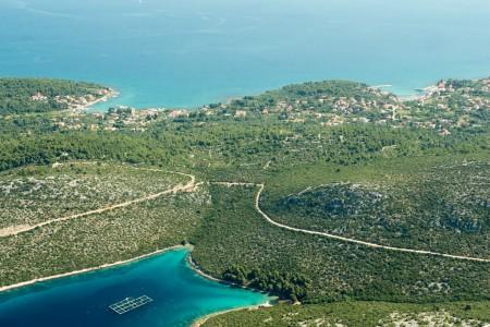 Pašman, Ždrelac - građevinsko zemljište s pogledom na more, 460 m2