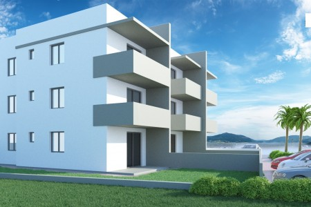 Zadar, Bili Brig - novi dvosoban stan s krovnom terasom, 78 m2